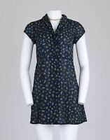 Urban Outfitters Cooperative Ditsy Floral Navy Vtg Style 90s Lace Mini Dress S