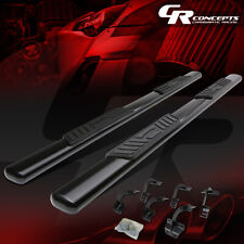 "BLACK 5"" SIDE STEP BAR RUNNING BOARDS FOR 15-18 FORD F150/SUPER DUTY CREW CAB"