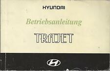 HYUNDAI TRAJET Betriebsanleitung 2001 Bedienungsanleitung Handbuch Bordbuch  BA
