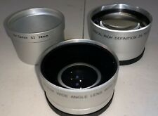 Canon Powershot S2IS S3IS S5IS Lens Bundle- Wide Angle, Telephoto & Tube Adapter