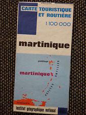 Carte IGN bleue 1 / 100 000  martinique 1972