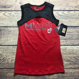 NBA 4Her Carl Banks Womens Medium Miami Heat Tank Top Hardwood Classic NEW