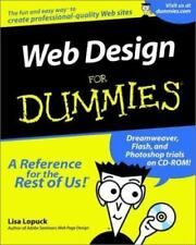 Web Design for Dummies by Lisa Lopuck (2001, Paperback)