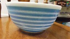 Vintage PYREX # 403 Blue Stripe on White Mixing Bowl 2 1/2 Qt.