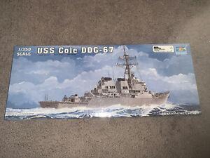 Trumpeter, 1:350 scale, USS Cole DDG-67 Destroyer, Model Kit #04524