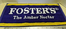 """Foster'S Beer Advertising Bar Towel 17"""" by 8"""" guc"""