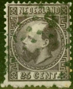 Netherlands 1867 25c Purple SG15 Good Used