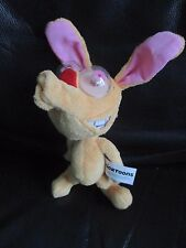 REN AND STIMPY rare Nicktoons plush soft toy with googly eyes VGC