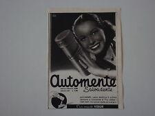 advertising Pubblicità 1941 CREMA DENTIFRICIA AUTOMENTE VIBOR