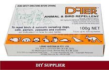 D-TER ANIMAL & BIRD DETERRENT 100g Repel  Dogs, Cats, Possums, Birds Rodentsl