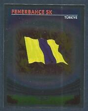 PANINI UEFA CHAMPIONS LEAGUE 2007-08- #468-FENERBAHCE SK TEAM BADGE-SILVER FOIL