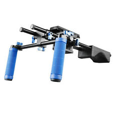 Pro DSLR RL-04 Hand and Shoulder Video Rig Mount stabilizing With tripod Plate