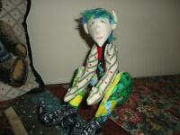 OOAK Handmade ELF GNOME Cotton Doll Jointed Poseable Handpainted