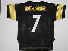 Infant Toddler Large (7) Reebok Steelers Roethlisberger #7 Black NFL Jersey