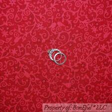 BonEful Fabric Cotton Quilt Red Tone Flower Swirl Leaf Bird Star Dot SALE SCRAP