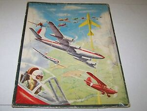 1951  AVIATION AIRPLANE tray puzzle (WHITMAN 2605) 15 by 11