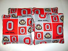 4 Cornhole Bean Bags Ohio State Buckeyes OSU Bucks Top Qualität Heckklappe Toss P