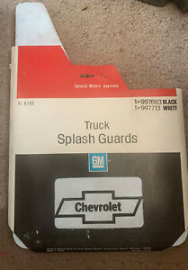 NOS White Chevrolet Bowtie Truck Splash Guards 1 pair # 997713
