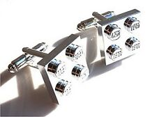 LEGO PLATE CHROME CUFFLINKS - WITH GIFT BAG - XMAS GIFT DAD FATHER HUSBAND