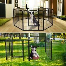 """40"""" Tall Playpen Heavy Duty Foldable Metal Pet Pens Dog Exercise Fence Outdoor"""