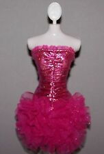 Barbie Doll Clothes Fashionista Strapless Metallic Cocktail Dress