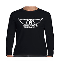 Aerosmith Wings Long Sleeve T Shirt Classic Rock Band