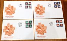 Norway Post FDC 1991.11.22. Postal Horn - Posthorn - Definitives - Block of Four