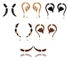 WHOLESALE LOT of Wooden Handmade Tribal Wood Fake Gauge Earrings WHOL13