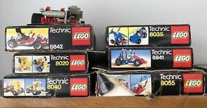 Vintage LEGO Technic Kits 8040 8841 8020 8842 8055 8035 Electric & Pneumatic
