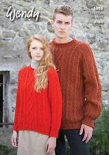 Wendy 5866 Knitting Pattern Family Sweaters in Aran with Wool