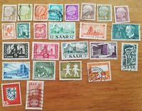 lot N°96 - 25 timbres SAAR