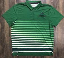 Nike Stripe Pocket Polo Pine Green 541930-302 Polyester Dri Fit Size 2XL EUC XXL