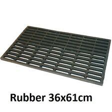 JVL Robusta super heavy duty rubber link entrance door mat 36x61cm