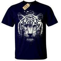 Tiger T-Shirt Mens interconnection nature lion animal head