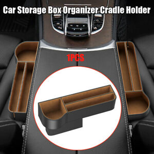 Water Cup Holder PU Leather Storage Box Tray Car Seat Accessories Organizer Box