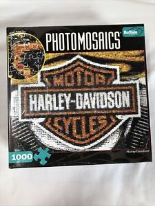 Harley Davidson - Photomosaics Puzzle - 1000 Pieces - Comes with a Bonus Poster!
