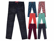 Ex Zara Girls Kids Skinny Cord Glitter Jeans Trouser Age 4 5 6 7 8 10 12 14 Yrs