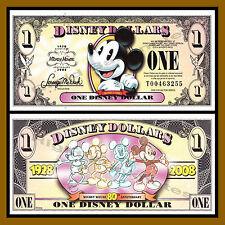 "Disney 1 Dollar, 2008 Series ""T"" Mickey's 80th Anniversary Unc"