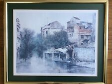 "Framed Limited Edition Print By P. Chan ""The Old Street After Rain"" 184/500"