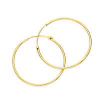Real 375 9ct Gold 0.8mm Tube Hoop Earrings 8mm - 20mm