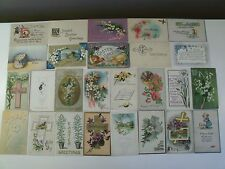 Easter Greetings Pre-Linen Postcard Lot Many Embossed 1909 Up Most >100 Yrs Oldc