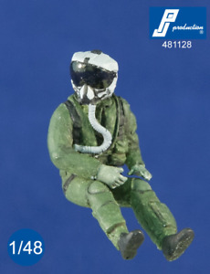 PJ Productions 1/48 US Pilot with JHMCS Helmet Seated in A/C # 481128