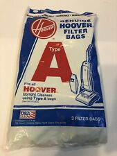 NEW Genuine HOOVER Vacuum Filter Bags Type A  3  pack Upright