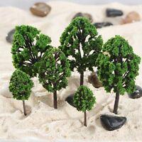 20PC Dark Green Tree Model Train Railway Diorama Scenery 1:100-300  HO N Z Scale