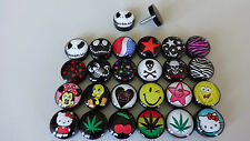 1 Fake Plug Cheater Acryl 10 mm jack nightmare  Cannabis Spongebob Stern Minnie