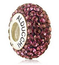 Alducchi Amethyst  Crystal .925 Sterling Silver European Charm Bead