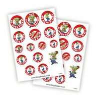 Nut Allergy Sticker Sheets - Also Pin Badges & Sew-on Patches - Allergic to Nuts