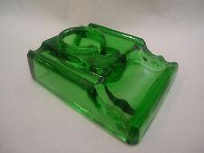 Antique Green Glass Desk Ink Well