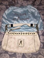 NWOT MARCIANO GUESS PETUNIA WHITE LEATHER HAND BAG PURSE NEW