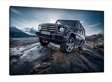 Mercedes G Wagon - 30x20 Inch Canvas Art - Framed Picture Print